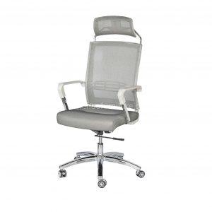 ELMN 1587 Mesh Office Chair in White Frame