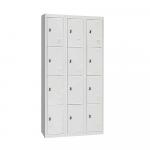 LCRV 12 Door Dual Lock Locker Cabinet