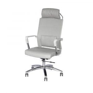 ELMN 1587 Leather Office Chair in White Frame