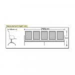 DMGC Powder Coated 5 Seater