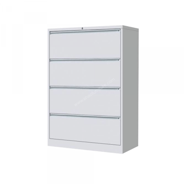 DMURV 062 4 Layered Off-White Lateral Filing Cabinet