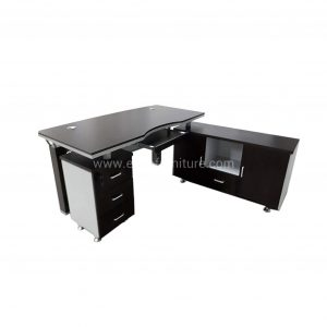 GOTRV 1800 Black and Gray Executive Office Table