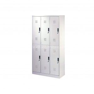 LCRV 6 Door Dual Lock Locker Cabinet